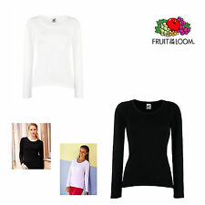 Fruit of the Loom Lady Fit Valueweight Longsleeve Damen Langarmshirt Paket 61404