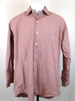 Brooks Brothers Men's 15.5-34 Red Check Long Sleeve Button Up Casual Dress Shirt