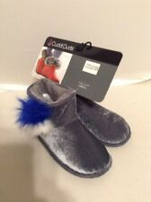 CuddlDuds Womens Slippers/Bootie Size Small 5-6 Gray Retails $36.00
