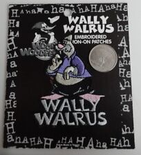 Wally the Walrus Classic Cartoon Embroidered Iron On Patch - New - Vintage