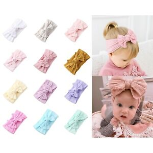 2021 Single Top Knot Baby Headband Girl Newborn Toddler Bow Turban Head Band NEW