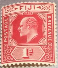 Fiji King Edward VII 1d Red Stamp Mint Never Hinged