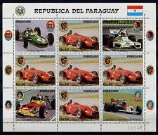 Paraguay 1989 Auto Sport Formel I Cars 4297 Kleinbogen ** MNH