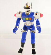 "1997 Bandai Power Rangers Turbo 4 7/8"" Inch Blue Robo Racer Action Figure"