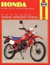 New Honda XL/XR 80, 100, 125, 185 & 200 2-valve Models (78 - 87) Haynes Repair M