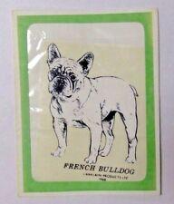 Vintage NOS FRENCH BULLDOG Dog Transparent Sticker Decal Larklain Products 1968