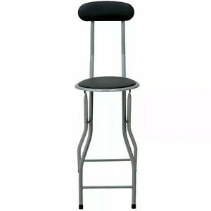 Folding Compact Padded Stool High Chair Breakfast Bar Stools Seat Home Office