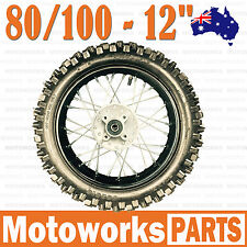 "80/100 - 12"" Inch Rear Back Wheel Rim 90cc 110cc 125cc Dirt Pit PRO Trail Bike"
