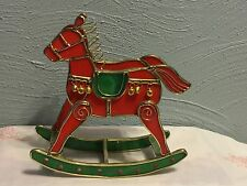ROCKING HORSE STAIN GLASS AND METAL ART-STAIN GLASS