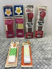 Vintage Sewing Craft Supplies Bondex Iron On Tape Elastic