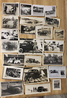 Antique Vintage Car Photograph Lot 1920s To 1950s Hot Rods Road Trips Wreck