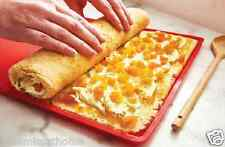 FLEXIBLE BAKING TRAY * ROLLING SILICONE SWISS CAKE MAT ROLL MOLD NON STICK OVEN