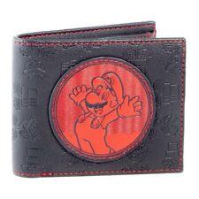 Super Mario Bros. Red Mario Patch Bi-fold Wallet Male Black/Red (MW560151NTN)