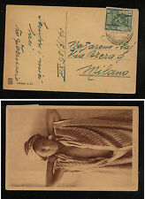 Libya  post  card  to   Italy    1936        KL0219