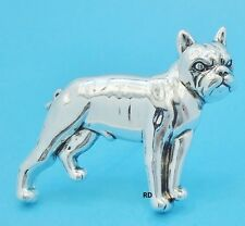 Pit Bull Terrier Dog Breed Lovers Pin - Brooch Slider Silver Plated
