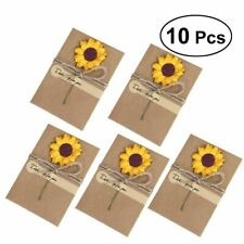 Folding Type Pattern Scenic Greetings And Invitation Card With Dried Flowers New