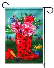 """New Rain Boots & Flowers Garden Flag 12""""X18"""" Summer Garden Decorative Flag"""