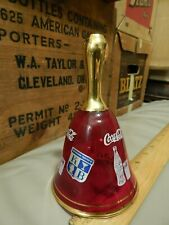 Coca-Cola ~ Red/Gold Glass Bell ~ an Original Creation by Kb Italy ~ Vtg Coke ~
