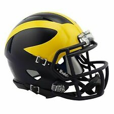 NCAA Michigan Wolverines Team Color Logo 2'' Pocket size Helmet Riddell Gift Fan Apparel & Souvenirs