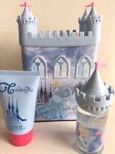 DISNEY PRINCESS CINDERELLA PERFUME & SHOWER GEL CASTLE MONEY BOX GIFT SET