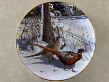 Early Winter Morning by David Maass Pheasant Plate Collection Danbury Mint