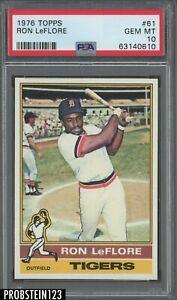 1976 Topps #61 Ron LeFlore Detroit Tigers PSA 10 GEM MINT