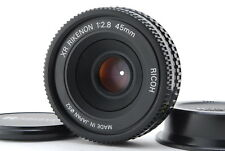 【NEAR MINT】Ricoh XR Rikenon 45mm f/2.8 MF Pancake Lens from Japan #1352