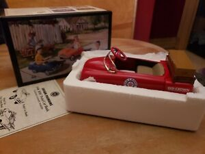 RED CROWN GASOLINE DIE CAST COLLECTIBLE PEDAL CAR BANK REPLICA RED 1/6 SCALE NIB