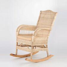 Schaukelstuhl Rattan Schwing-Sessel Rattan-Sessel Relax-Stuhl mit Auflage