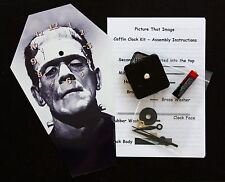 DIY Coffin Wall Clock Kit - 25.5cm High - Boris Karloff as the Monster - Wierd