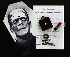 Diy cercueil horloge murale kit - 25.5cm high-boris karloff comme le monstre-étrange