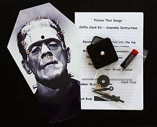 DIY Coffin Wall Clock Kit - 25.5cm High - Boris Karloff as the Monster - Wierd