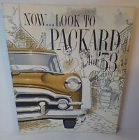 "1953 Packard ""PACKARDS & PACKARD CLIPPERS"" Car Dealer Showroom Sales Brochure"