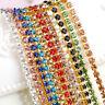Thin Crystal Rhinestone Close Cup Chain Trim Claw Chain Jewelry Craft 1M