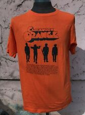 Clockwork Orange Shirt Large Orange 100% Cotton Stanley Kubrick Movie