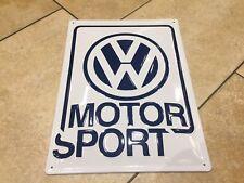 VW Motorsport Metal Sign Mk1 Mk2 Golf GTI