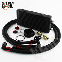 Small Dual Pass Bar & Plate Oil Cooler w/80 Deg thermostatic Filter Adapter Kit