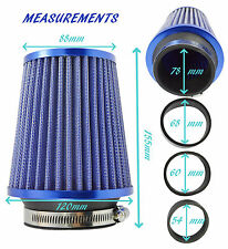 MG PERFORMANCE FILTER & ADAPTERS - K&N INDUCTION TYPE - BLUE - UN007-B