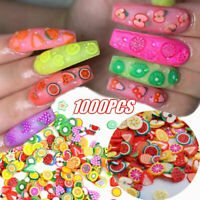 1000pcs Mixed Fruit Nail Art Stickers Decoration Polymer Clay Slice Manicure