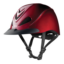 Troxel Riding Helmet Liberty Ruby Red Equine Horse Safety Low Profile Large