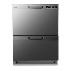 InAlto IDWD60DS Double Dishwasher Drawer