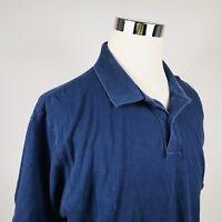 Ralph Lauren Mens 2XL Polo Shirt Navy Blue Recent Label 100% Cotton Casual