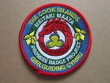 Girlguiding Cymru The Cook Islands Girl Guides Cloth Patch Badge (L3K)