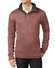 New Weatherproof Vintage Herringbone Mock Neck Rum Raisin Pullover Sweater M