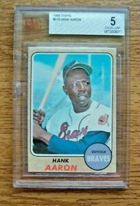 1968 Topps BVG 5 EX #110 Hank Aaron Atlanta Braves