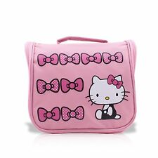 Finex Pink Hello Kitty Toiletry Shower Bag with Hanging Hook for Cosmetic Makeup