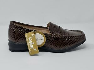 WOMEN'S WIDE FIT ORTHOPEDIC LADIES MOCCASIN FLAT WEDGE COMFY CASUAL LOAFER SHOES