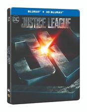 Justice League Limited Edition Steelbook 3D + 2D Blu Ray