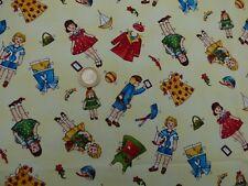 Tissu patchwork Poupées en papier à découper Vintage rétro Rare acheté aux USA