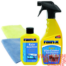 RAIN X RAIN REPELLENT KIT AND 2 IN 1 GLASS CLEANER SET - *IMPROVED VISIBILITY*